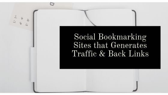 Real Social Bookmarking Sites that bring you Traffic & Back Links